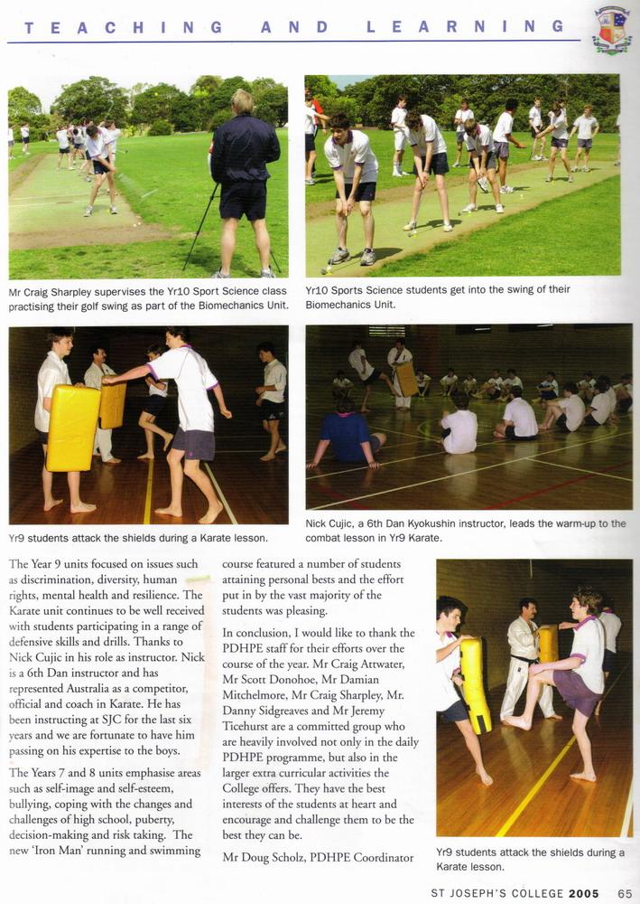 St Josheph's College Magazine, December 2005 Hunters Hill-Sydney Australia