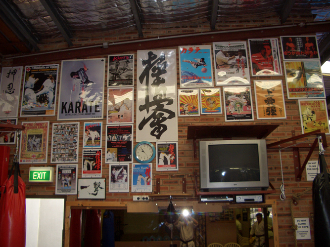 Wall of Memories (The posters of Kyokushin Events dating back to 1975)